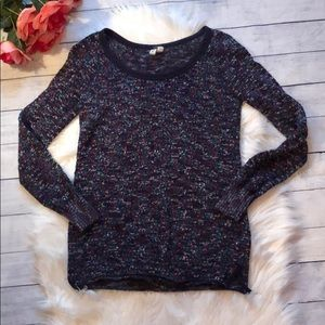 Free People Speckled Knit Crewneck Purple Sweater